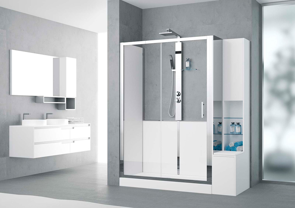 paroi cabine de douche r volution 2 novellini schmitt ney. Black Bedroom Furniture Sets. Home Design Ideas