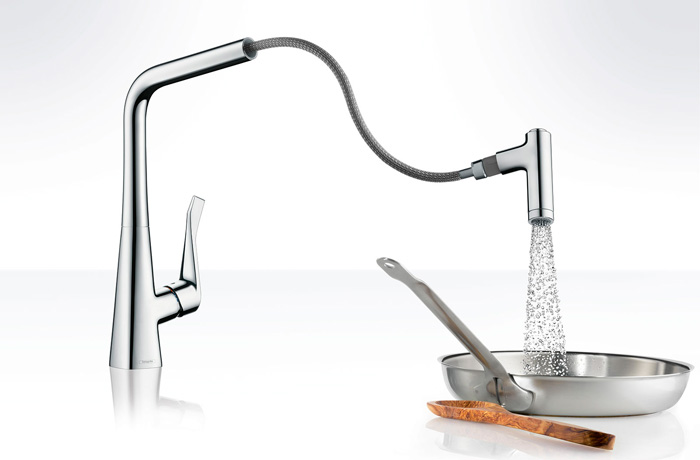 Robinetterie cuisine HansGrohe metris