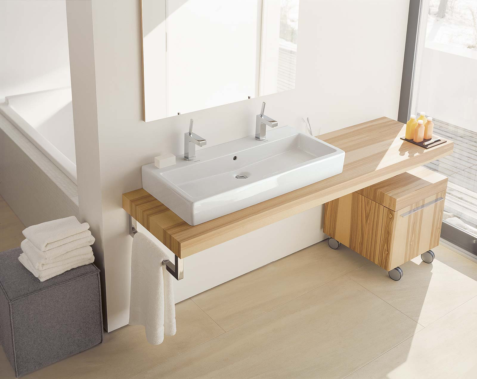 Plan vasque duravit vero - Vasque double a poser ...